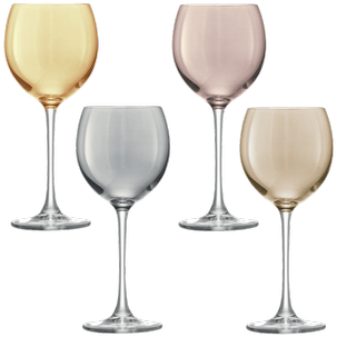 Polka Wine Metallics Assorted Set of 4 pcs