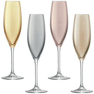 Polkа Champagne Flute Assorted Set of 4 pcs