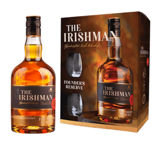 Виски The Irishman Founder's Reserve + 2 glasses  in gift box