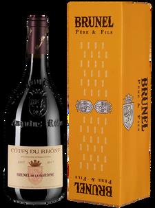 Вино Cotes du Rhone Brunel de la Gardine, Chateau de la Gardine, 2017 г.