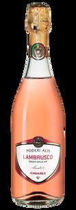 Шипучее вино Lambrusco dell'Emilia Rosato Poderi Alti, Chiarli