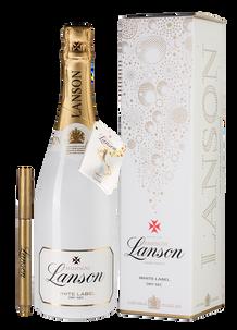Игристое вино Набор Лансон Уайт Лейбл с маркеромдля персонализации, Lanson