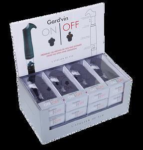 "Gift Set with marking ""L'ATELIER DU VIN"": Wine keeper, 2 corks, ""Gard'vin ON/OFF"" 095382"