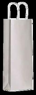 Подарочный пакет серебристый на одну бутылку