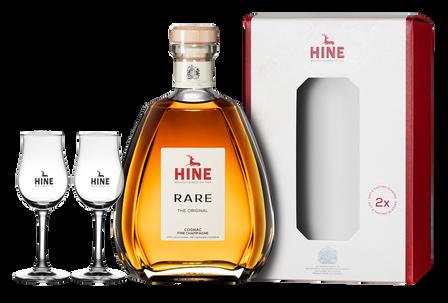 Коньяк Hine Rare Fine Champagne VSOP с 2-мя бокалами